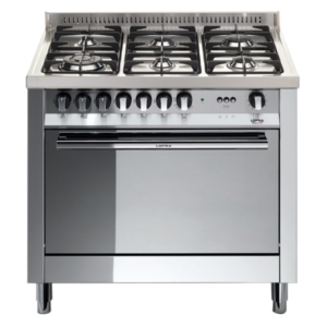 5-palnikowa kuchnia wolnostojąca gazowa z el. piekarnikiem MAXIMA INOX 90 MG96MFC Lofra