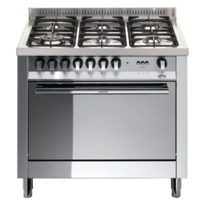 5-palnikowa kuchnia wolnostojąca gazowa z gaz. piekarnikiem MAXIMA INOX 90 MG96GVC Lofra