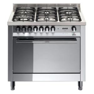 6-palnikowa kuchnia wolnostojąca gazowa z gaz. piekarnikiem MAXIMA INOX 90 MG96GVCIS Lofra