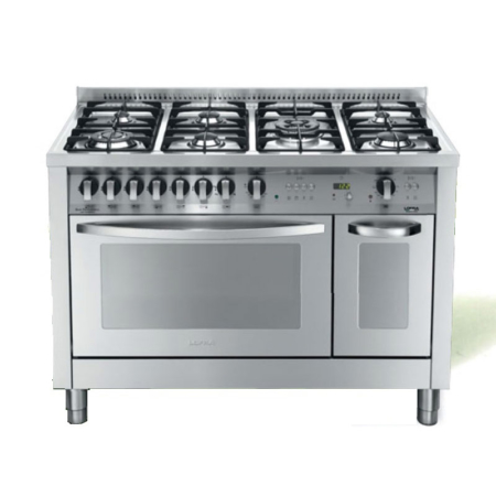 7-palnikowa kuchnia wolnostojąca 2 piekarniki SPECIAL 120 I ACCIAIO SATINATO PD126GV+E2CI