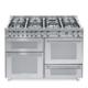 7-palnikowa kuchnia wolnostojąca 3 piekarniki SPECIAL 120 ACCIAIO SATINATO P126 SMFE+MF2CI
