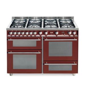 7-palnikowa kuchnia wolnostojąca 3 piekarniki SPECIAL 120 BURGUNDY PR126 SMFE+MF2CI Lofra