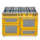 7-palnikowa kuchnia wolnostojąca 3 piekarniki SPECIAL 120 GIALLO PG126 SMFE+MF2CI Lofra