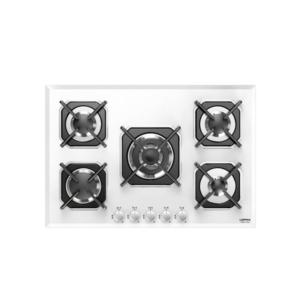 Biała pięciopalnikowa płyta gazowa SIRIO 75 HGB7EO Lofra