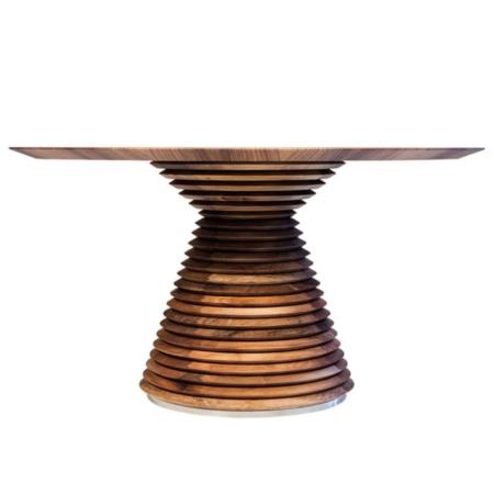 Drewniany, okrągły stół na jednej nodze FUJI TABLE Mobi
