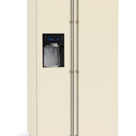 Kremowa lodówko-zamrażarka DOLCEVITA AVORIO GFRBI 619 K Lofra