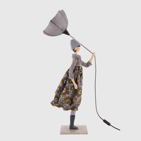 Lampka ozdobna kobieta z parasolem Marjoty Skitso