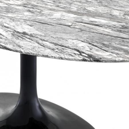 Marmurowy stół okrągły Solo na jednej nodze
