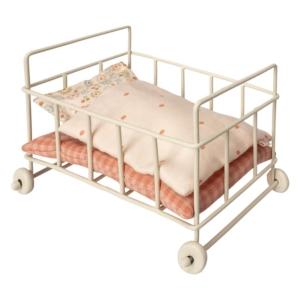 Mini metalowe łóżeczko dla lalek akcesoria - Maileg 11-8112-00