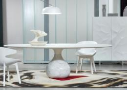 Stół okrągły na jednej nodze Aqua Roche Bobois