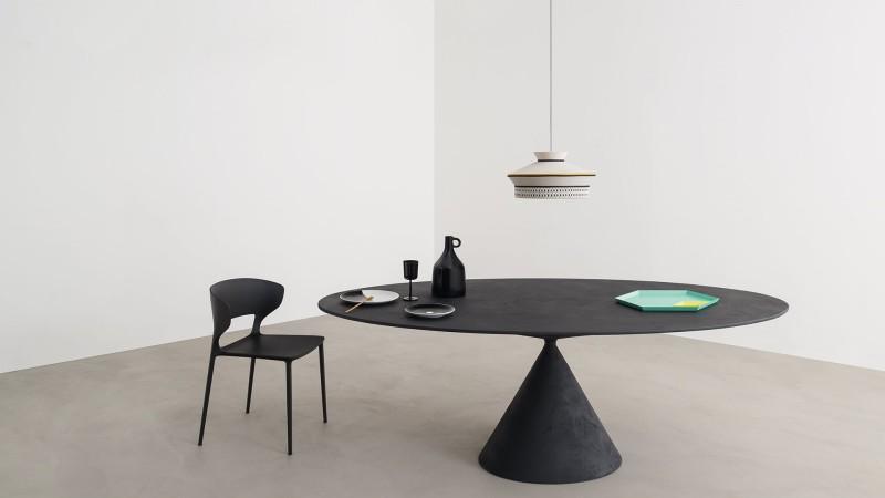 Stół okrągły na jednej nodze Desalto Clay 2
