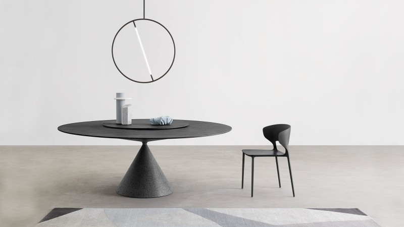 Stół okrągły na jednej nodze Desalto Clay