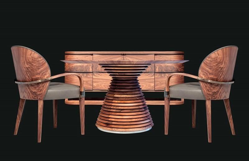 Stół okrągły na jednej nodze Fuji MOBI