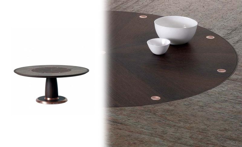 Stół okrągły na jednej nodze Isto Dimensione Chi Wing Lo