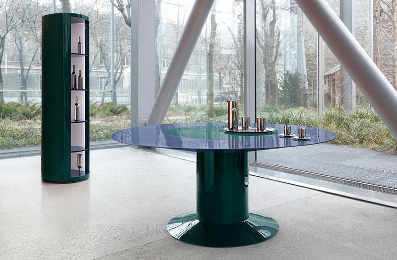 Stół okrągły na jednej nodze LI-DA Roche Bobois