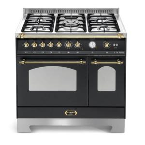 Wolnostojąca kuchnia 5-palnikowa 2-el. piekarniki DOLCEVITA 90 NERO MATT RNMD96MFTECI Lofra