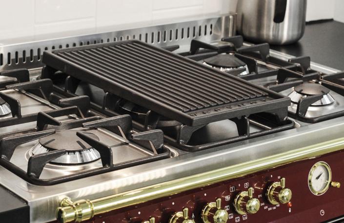 Wolnostojąca kuchnia 5-palnikowa 2-el. piekarniki DOLCEVITA 90 ROSSO BURGUNDY RRD96MFTECI Lofra