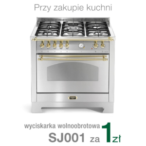 Wolnostojąca kuchnia 5-palnikowa el. piekarnik DOLCEVITA 90 ACCIAIO SATINATO RSG96MFTCI Lofra