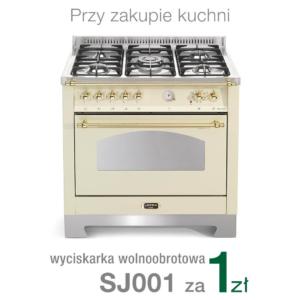 Wolnostojąca kuchnia 5-palnikowa el. piekarnik DOLCEVITA 90 AVORIO RBIG96MFTCI Lofra