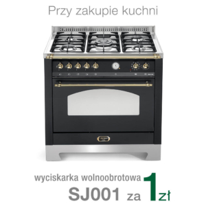 Wolnostojąca kuchnia 5-palnikowa el. piekarnik DOLCEVITA 90 NERO MATT RNMG96MFTCI Lofra