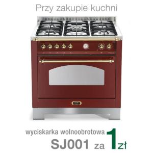 Wolnostojąca kuchnia 5-palnikowa el. piekarnik DOLCEVITA 90 ROSSO BURGUNDY RRG96MFT CI Lofra