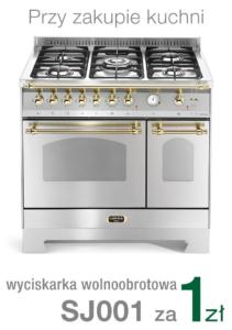 Wolnostojąca kuchnia 5-palnikowa 2-el. piekarniki DOLCEVITA 90 ACCIAIO SATINATO RSD96MFTE CI Lofra