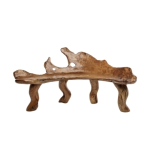 Zewnętrzna ławka ogrodowa z korzenia Radice