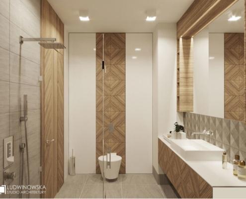 Aranżacja łazienki z prysznicem w skandynawskim stylu