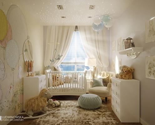 Aranżacja jasnego pokoju niemowlęcego