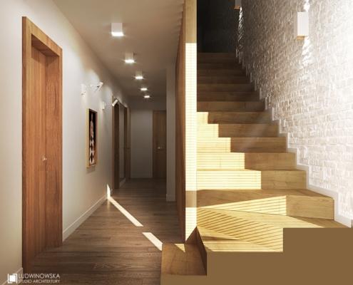 Aranżacja minimalistycznego przedpokoju w drewnie