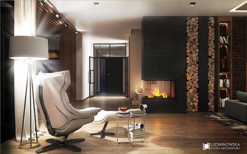 Aranżacja salonu w nowojorskim stylu