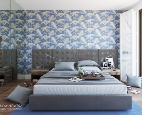 Błękit w sypialni