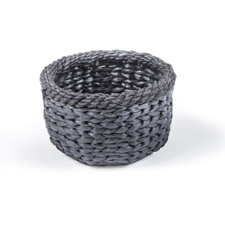 Czarny, pleciony koszyk MAGDA
