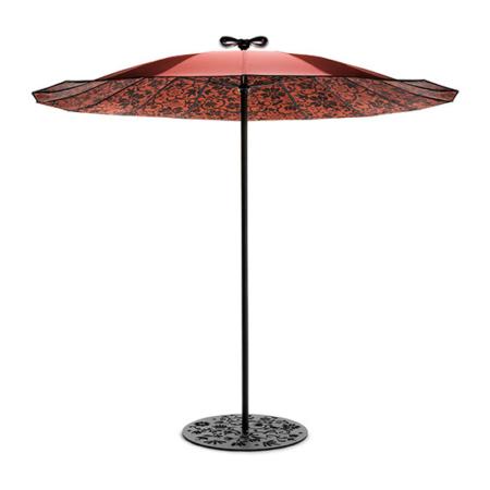 Czerwony parasol ogrodowy zewnętrzny Geisha