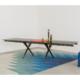 Długi, designerski stół rozkładany Tender