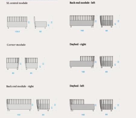 Designerska sofa ogrodowa Swing