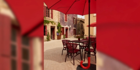 Designerski parasol do ogrodu i restauracji Gulliver