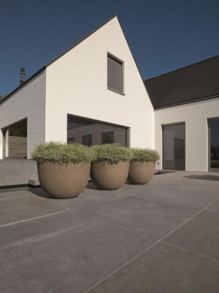 Donica ogrodowa styl industrialny Texel pot Terakota
