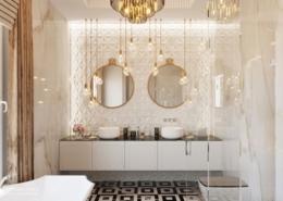 Elegancka łazienka w Art deco