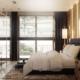 Elegancka sypialnia z motywami Art Deco