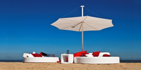 Elegancki parasol plażowy zewnętrzny do restauracji Solis