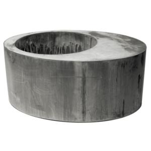 Metalowa donica zewnętrzna z siedziskiem Cynk