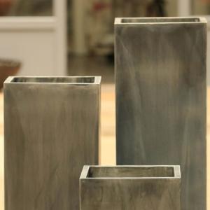 Metalowe donice zewnętrzne Cynk