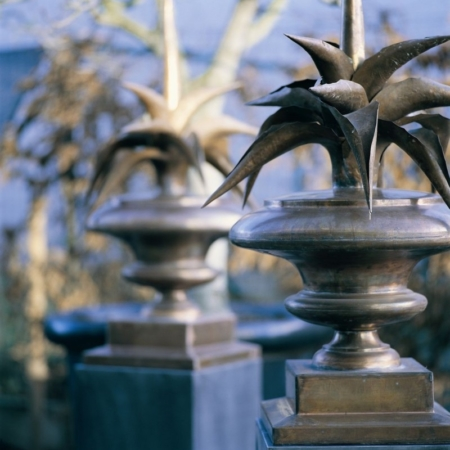 Metalowe ornamenty ogrodowe Cynk
