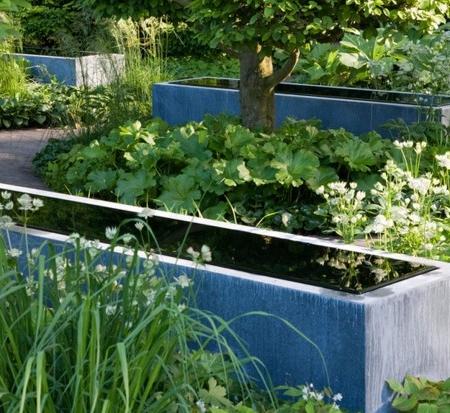 Metalowy zbiornik wodny Cynk water mirror