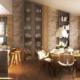 Motyw drewna w nowoczesnej kuchni i jadalni