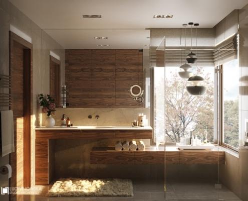 Nastrojowa łazienka z prysznicem