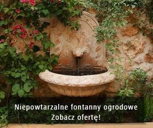 Niepowtarzalne fontanny ogrodowe