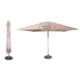 Nowoczesny parasol ogrodowy zewnętrzny z drewnianym stelażem Cape Wood