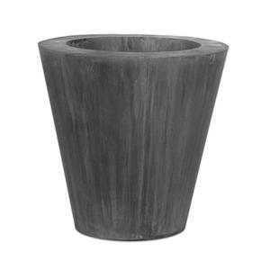 Okrągła donica zewnętrzna z metalu Cynk